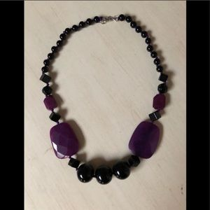 "Exquisite 20"" handcrafted faceted stone necklace"